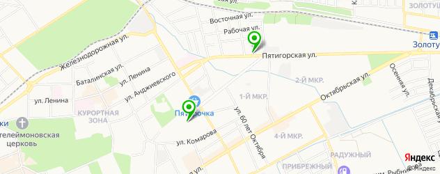 йога-центры на карте Ессентуков