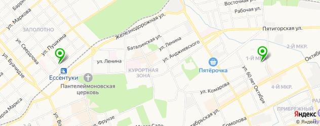 институты на карте Ессентуков