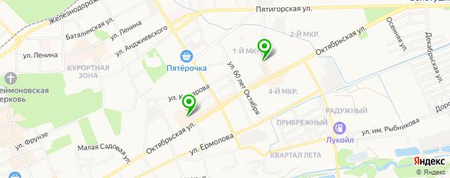 детские развлекательные центры на карте Ессентуков