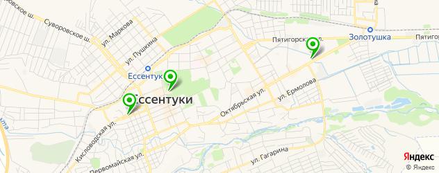 кинотеатры на карте Ессентуков