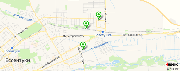 гаражи на карте Ессентуков