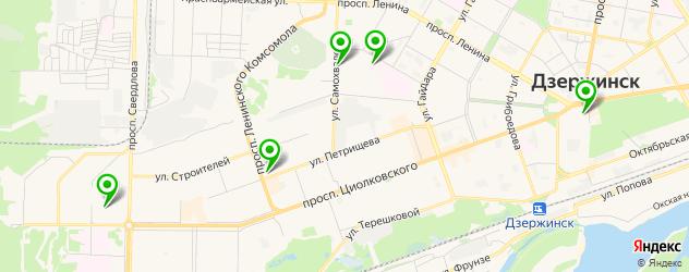 ночные клубы на карте Дзержинска
