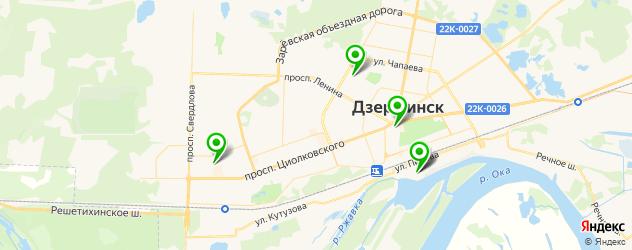 бассейны на карте Дзержинска
