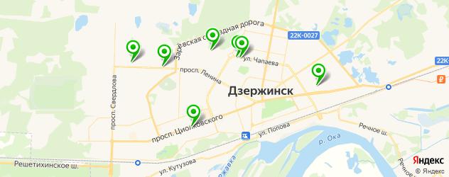 магазины автозвука на карте Дзержинска