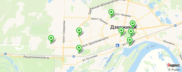 женские фитнес-клубы на карте Дзержинска