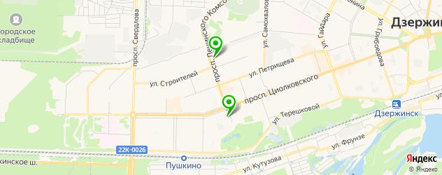рестораны с детской комнатой на карте Дзержинска