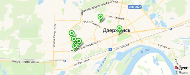 постные меню в ресторанах на карте Дзержинска