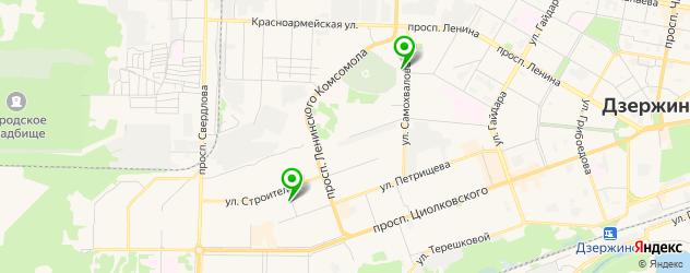 кальянные на карте Дзержинска