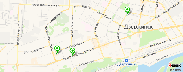 окрашивание бровей на карте Дзержинска