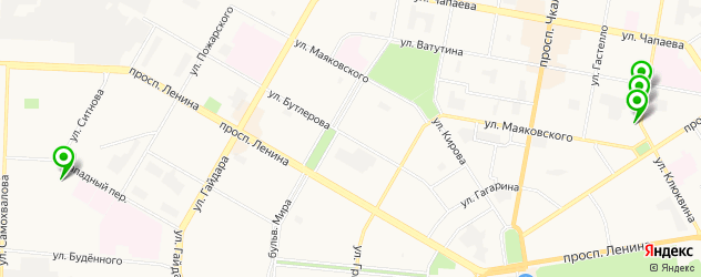 общежития на карте Дзержинска