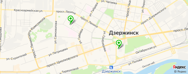 йога-центры на карте Дзержинска