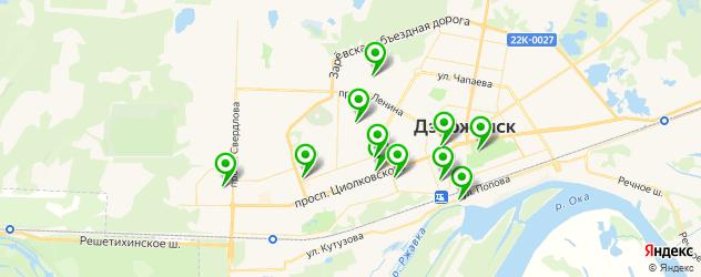 кафе с живой музыкой на карте Дзержинска