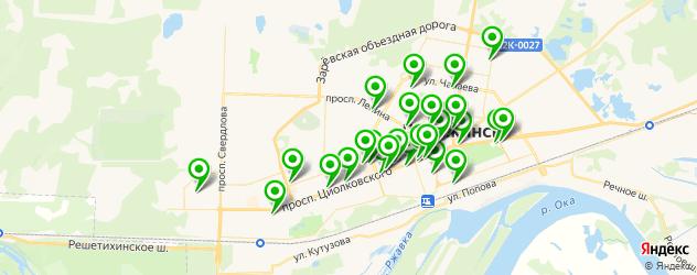 банки на карте Дзержинска