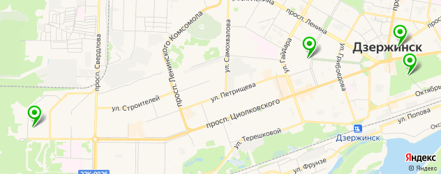 театры на карте Дзержинска