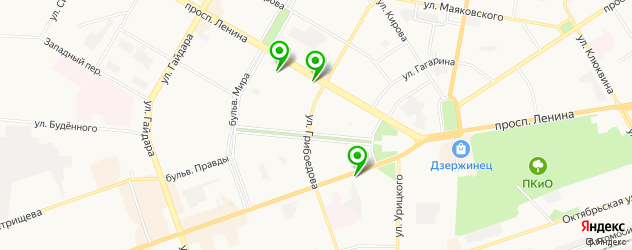 кофейни на карте Дзержинска
