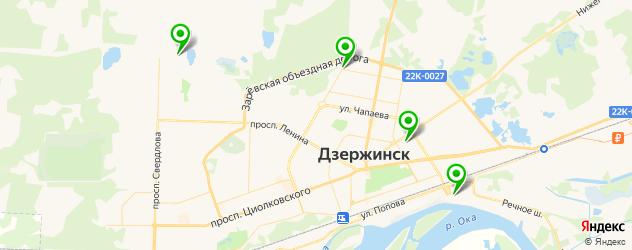 установка ГБО на карте Дзержинска