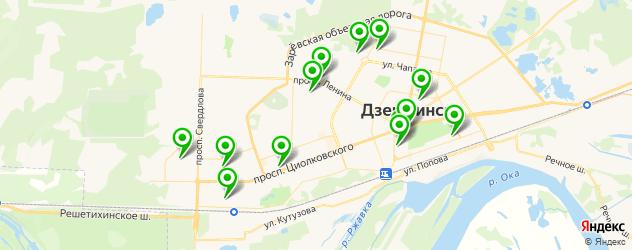 спортивные школы на карте Дзержинска