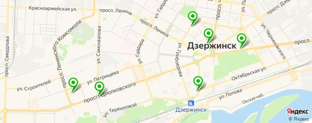 обертывания на карте Дзержинска