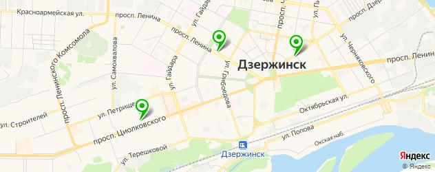 музеи на карте Дзержинска