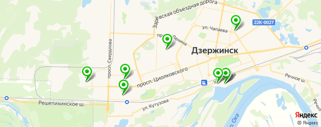 спортивные секции на карте Дзержинска