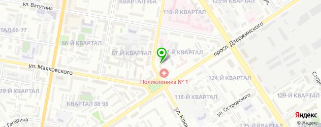 травмпункты на карте Дзержинска