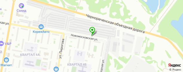 гаражи на карте Дзержинска