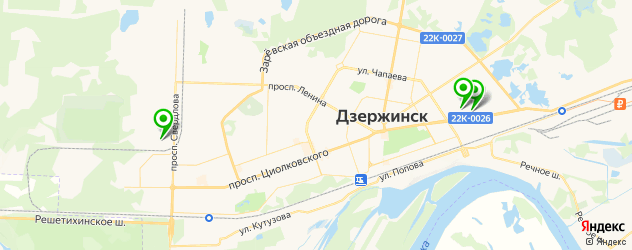 тюнинг бампера на карте Дзержинска
