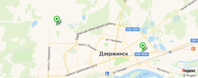 диагностическая карта техосмотра на карте Дзержинска
