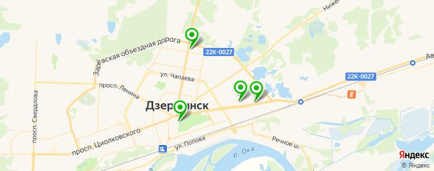 автосалоны на карте Дзержинска