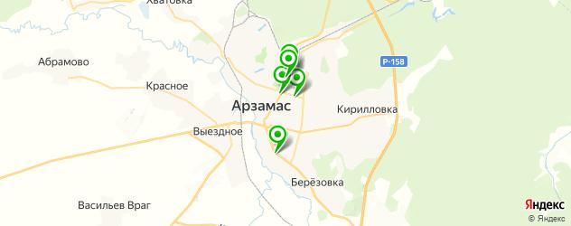 Здоровье на карте Арзамаса
