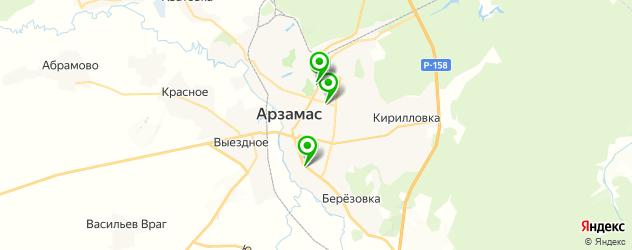 салоны оптики на карте Арзамаса