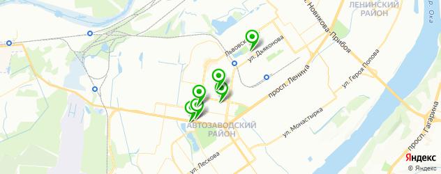 неврология на карте Автозаводского района
