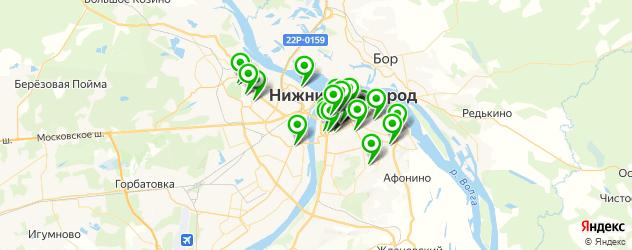 школы танцев на карте Нижнего Новгорода