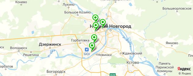 магазины запчастей Москвич на карте Нижнего Новгорода
