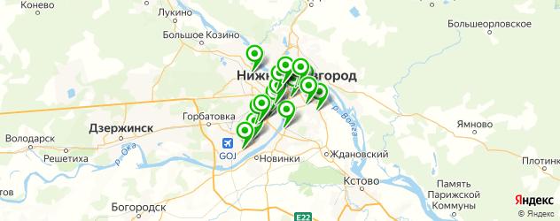 букмекерские конторы на карте Нижнего Новгорода