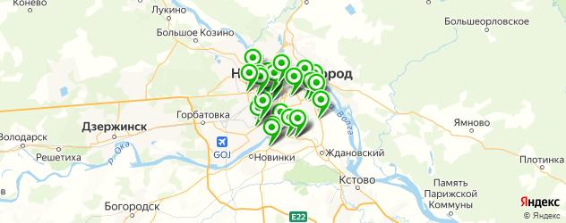 Авто на карте Нижнего Новгорода