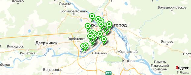 мебельные мастерские на карте Нижнего Новгорода