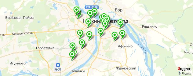 караоке-клубы на карте Нижнего Новгорода