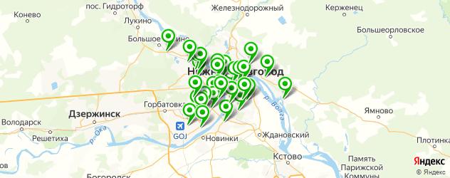 детские поликлиники на карте Нижнего Новгорода