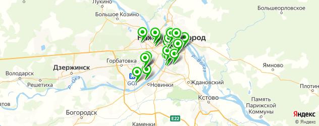 квесты на карте Нижнего Новгорода