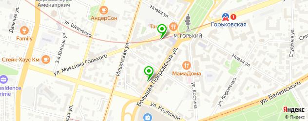 анализы ПЦР на карте улицы Воровского