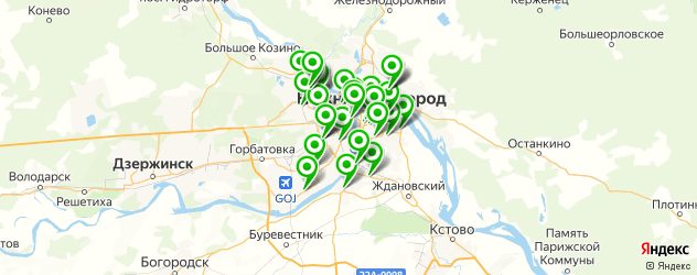Доставка супов на карте Нижнего Новгорода