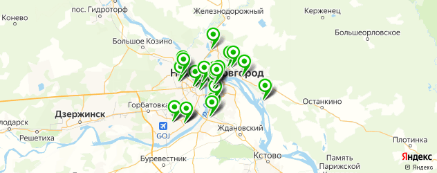 колледжи на карте Нижнего Новгорода