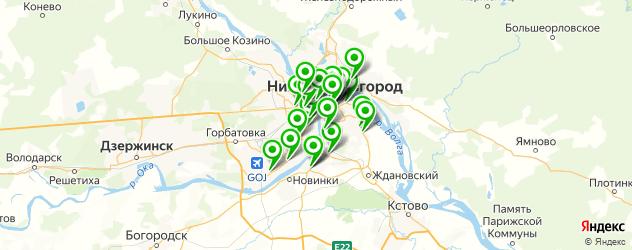 рыба на карте Нижнего Новгорода