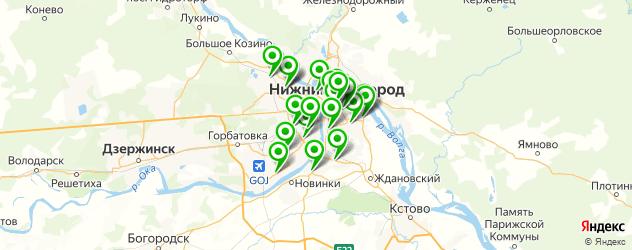 Доставка еды на карте Нижнего Новгорода