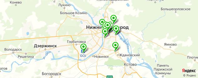 кофейни на карте Нижнего Новгорода