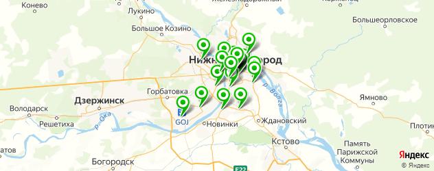 фасты фуд на карте Нижнего Новгорода