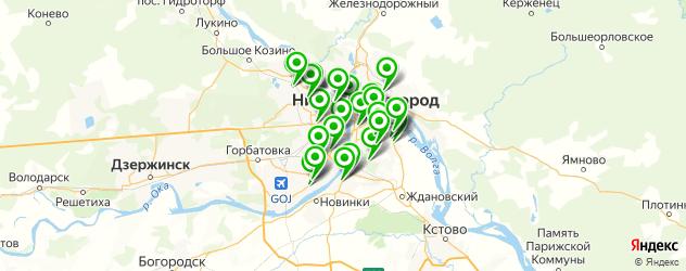 Экспресс-анализ на ВИЧ на карте Нижнего Новгорода