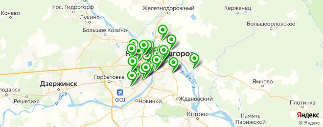 бассейны на карте Нижнего Новгорода
