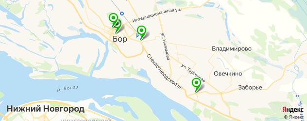 подбор очков на карте Бора